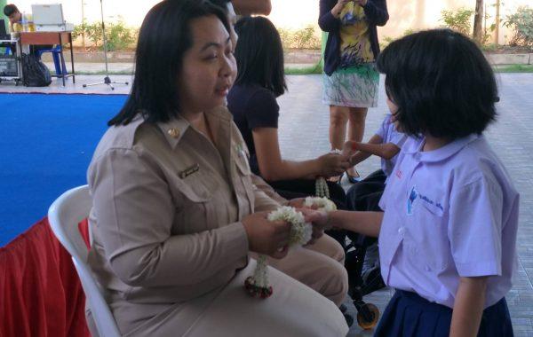 งานสังคมสงเคราะห์ เข้าร่วมงานวันพ่อแห่งชาติที่โรงเรียนประชาบดี